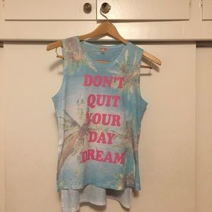 don't quit your day dream graphic tank.